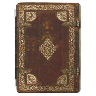 Aged Gilded Leather Lockable Book Cover iPad Air Cover