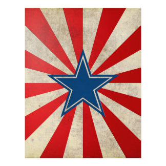 Aged Glory - Red, White and Blue 21.5 Cm X 28 Cm Flyer