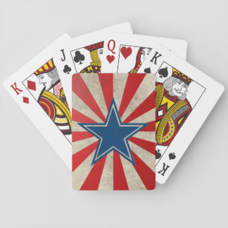 Aged Glory - Red, White and Blue Playing Cards