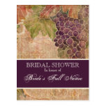 Aged Grape Vineyard Bridal Shower Post Card