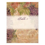 Aged Grape Vineyard Table Number Card Personalised Announcements