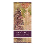 Aged Grape Vineyard Wedding Program Announcement