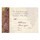 Aged Grape Vineyard Wedding RSVP Response Card