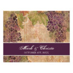 Aged Grape Vineyard Wedding RSVP Response Card Invitation
