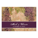 Aged Grape Vineyard Wedding RSVP Response Card Personalised Invitation