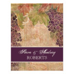 Aged Grape Vineyard Wedding Stationery - flat card Personalised Invites