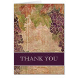 Aged Grape Vineyard Wedding Thank You Notes Cards