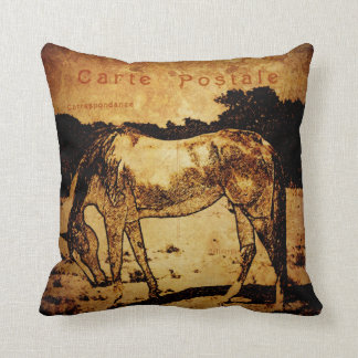 Aged horse sketch pillow