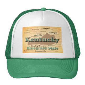 Aged Kentucky State Pride Map Silhouette Hat