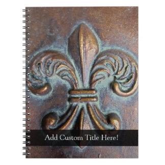 Aged-Look Fleur de Lis Notebooks