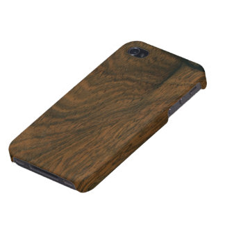 Aged Mahogany Wood Texture Cover For iPhone 4
