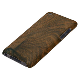 Aged Mahogany Wood Texture iPod Case-Mate Case