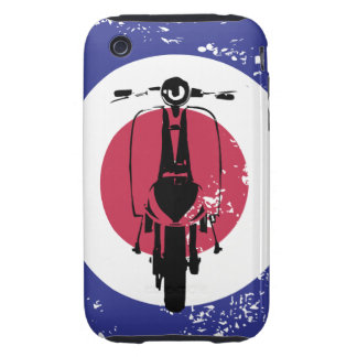 Aged mod target with retro scooter tough iPhone 3 covers
