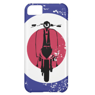 Aged mod target with retro scooter cover for iPhone 5C