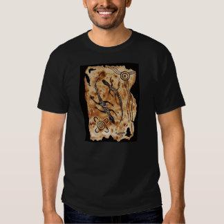 Aged Paper Goannas Tee Shirt