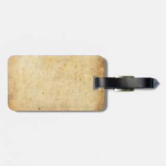 Aged Paper Luggage Tag