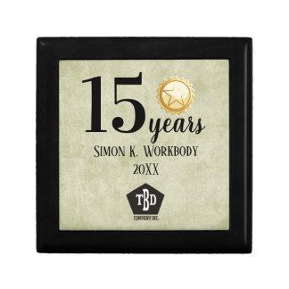 Aged paper universal employee anniversary gift box