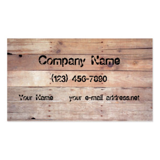 Aged Planks Business Card Template