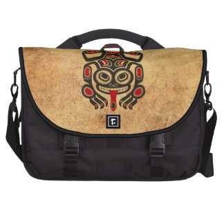 Aged Red and Black Haida Spirit Tree Frog Bags For Laptop