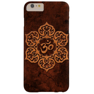 Aged Red Stone Floral Om Barely There iPhone 6 Plus Case