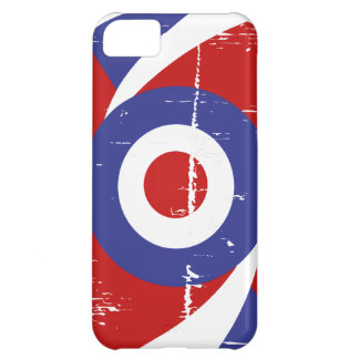Aged retro Mod target design Case For iPhone 5C