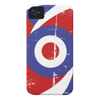 Aged retro Mod target design iPhone 4 Cover