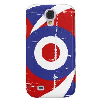 Aged retro Mod target design Galaxy S4 Case