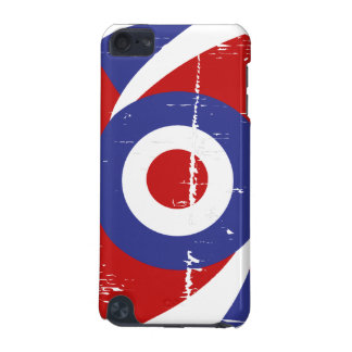 Aged retro Mod target design iPod Touch (5th Generation) Covers