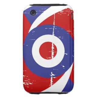 Aged retro Mod target design iPhone 3 Tough Case