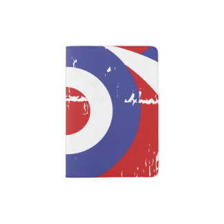 Aged retro Mod target design Passport Holder