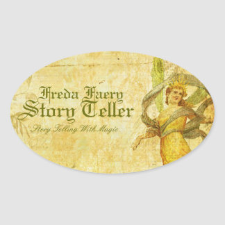 Aged Rose of Faery Oval Stickers