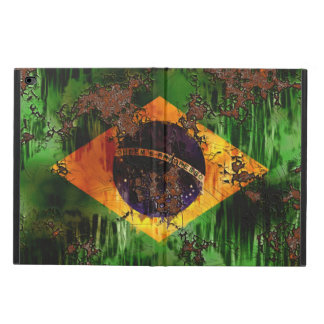Aged Rusted Brazil Flag