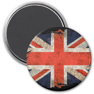 Aged shredded Union Jack 7.5 Cm Round Magnet