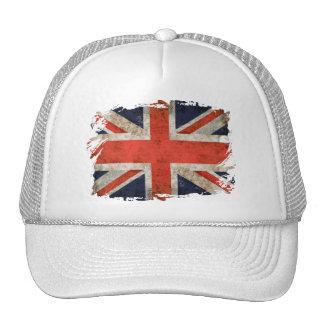 Aged shredded Union Jack Hat