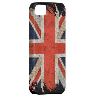 Aged shredded Union Jack iphone 5 case