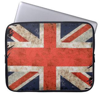 Aged shredded Union Jack Laptop Sleeve