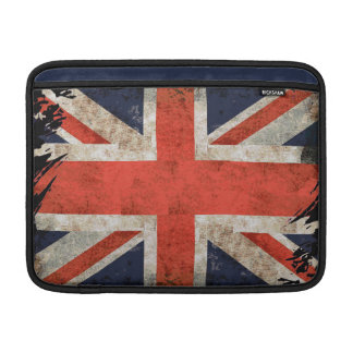 Aged shredded Union Jack MacBook Sleeve