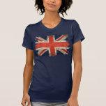 Aged shredded Union Jack Shirts