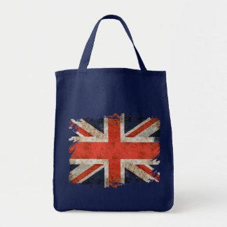 Aged shredded Union Jack Tote Bag