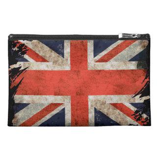 Aged shredded Union Jack Travel Accessory Bag