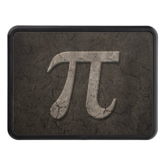Aged Stone Effect Pi Math Symbol Tow Hitch Covers