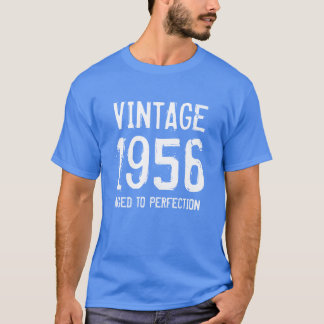 Aged to perfection 1956 men's 60th Birthday shirt