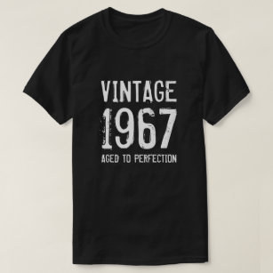 Aged To Perfection 1967 Mens 50th Birthday Shirt