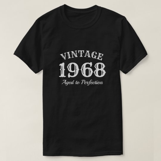 Aged to perfection 1968 men's 50th Birthday shirt