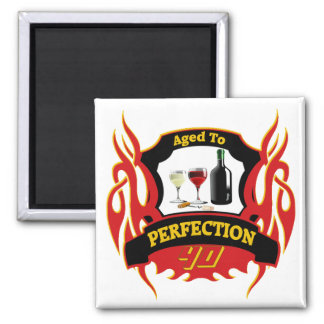 Aged To Perfection 40th Birthday Gifts Square Magnet