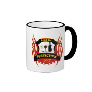 Aged To Perfection 75th Birthday Gifts Ringer Mug
