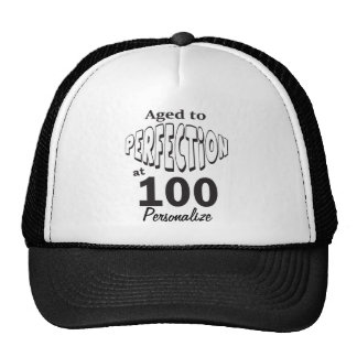 Aged to Perfection at 100  100th Birthday DIY Name Cap