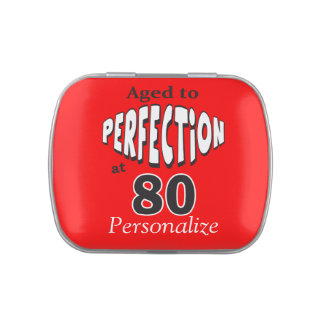 Aged to Perfection at 80 | 80th Birthday Jelly Belly Tins