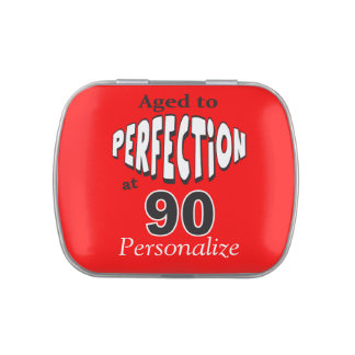 Aged to Perfection at 90 | 90th Birthday Jelly Belly Tins