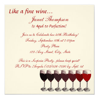 Aged to Perfection Birthday 13 Cm X 13 Cm Square Invitation Card